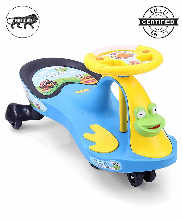 Babyhug Froggy Gyro Swing Car - Blue