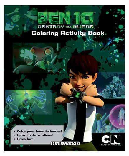 Ben 10 Colouring Activity Book - English