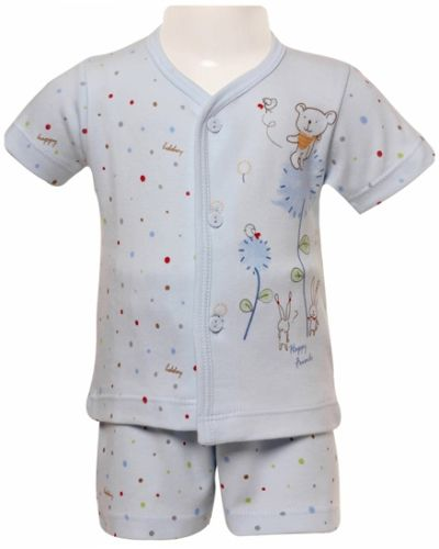 Zero - Night Suit With Happy Friends Print