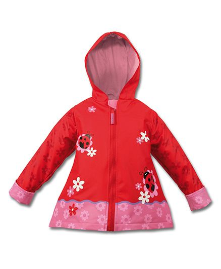Stephen Joseph Hooded Raincoat Ladybug Design - Red