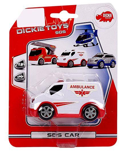 Dickie Freewheel Ambulance Van Toy - White And Red