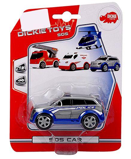 Dickie Freewheel Police Van Toy - Grey And Blue