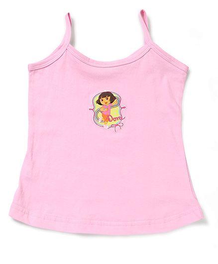 Dora Printed Singlet Slip - Pink