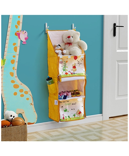 Winnie the Pooh Multipurpose Foldable Hanging Rack - Yellow And Multicolor