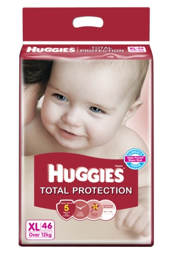 Huggies Total Protection Diapers Extra Large - 46 Pieces