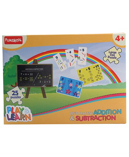 Funskool Addition and Subtraction Puzzle Game - 25 Pieces