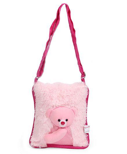 IR Plush Teddy Shoulder Bag Red - 10 inch