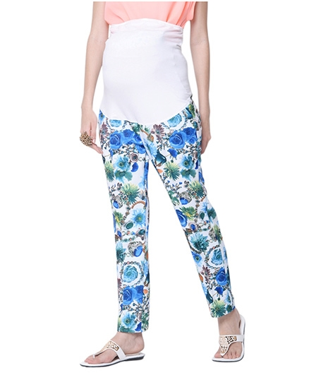 Mamacouture Maternity Blue Printed Pants