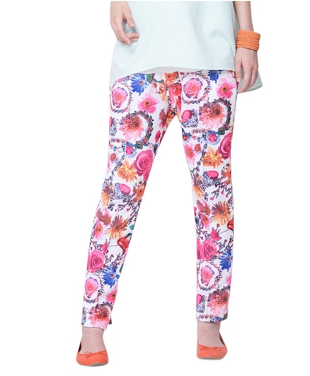Mamacouture Maternity Pink Printed Pants 42