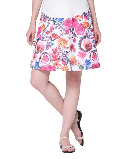 Mamacouture Maternity Pink Printed Skirt