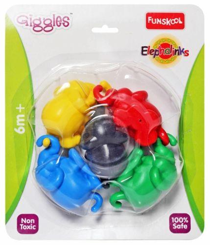 Funskool - Elephalinks 6 Months+, Colourful, Roly-poly Elephants