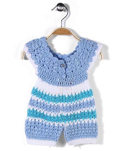 Rich Handknits Romper Woolen Dress - Blue