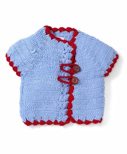 Rich Handknits Loop Button Sweater - Sky Blue