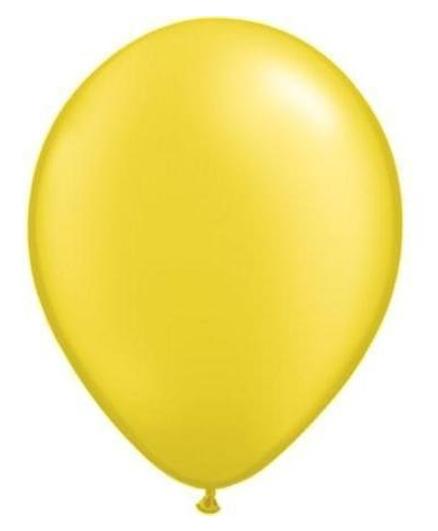 PrettyurParty Latex Balloons Pack of 50 - Yellow