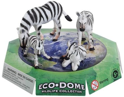 Wild Republic - Eco Dome Zebra Family