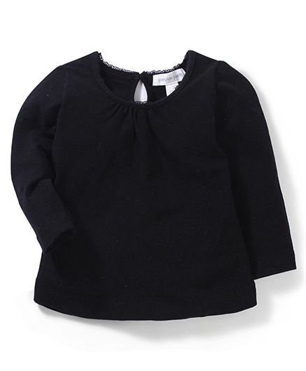 Pumpkin Patch Plain Full Sleeves Top - Black