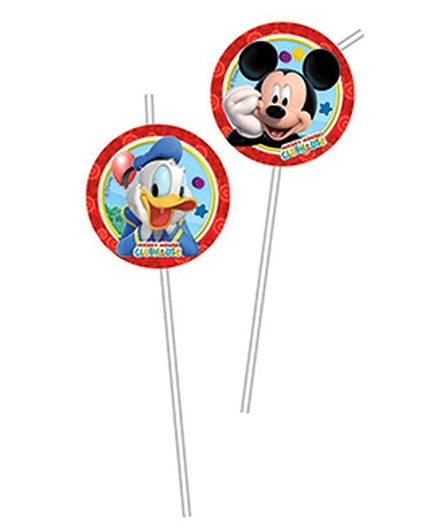 Mickey Mouse And Friends Flexi Drinking Straws