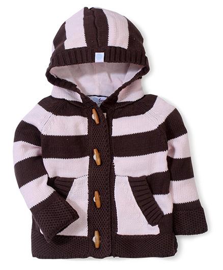 Beba Bean Hooded Sweater - Pink & Brown