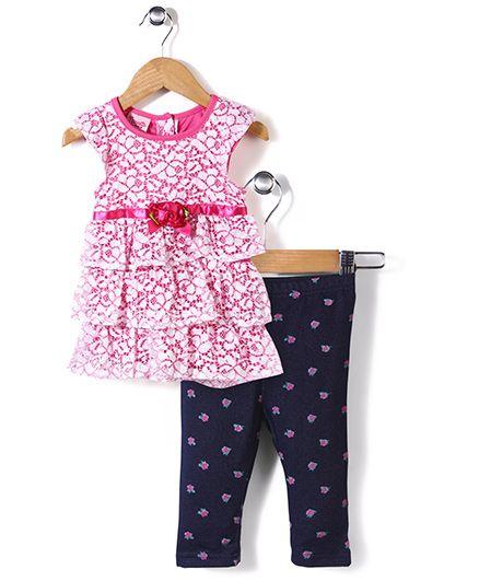 Nannette Tunic & Leggings Set - Pink