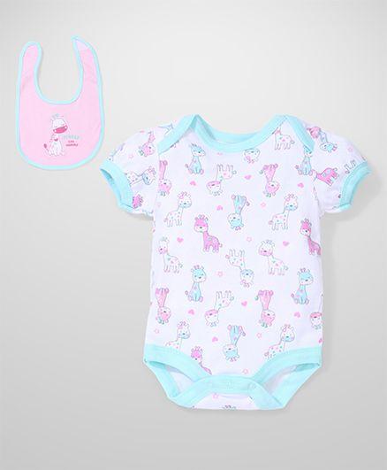 Bon Bebe Animal Print Set - White & Pink