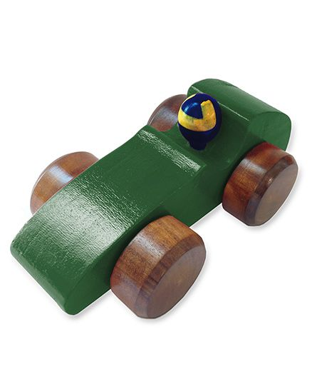 Shumee Wooden Race Car - Green