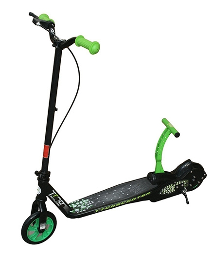 Adraxx TTGo Exciting Push Pedal Scooty - Black And Green