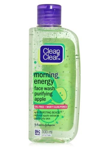 Clean & Clear Morning Energy Face Wash - Apple