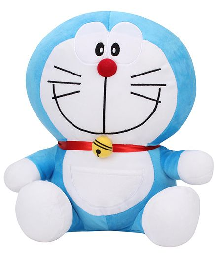 Doremon Soft Toy Blue White - 11 Inches