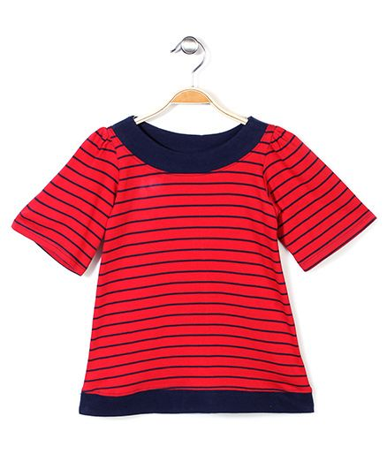 The Dragon & the Rabbit Banded Top - Red