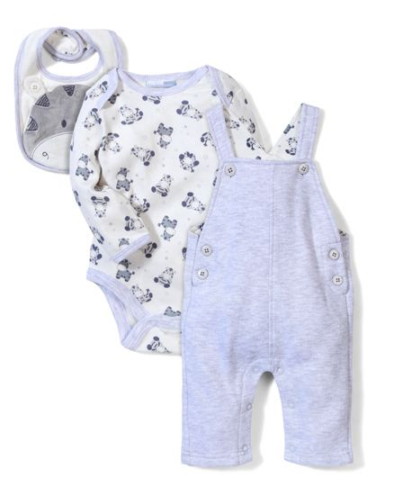 Vitamins Baby Rompers & Onesie Set - Grey