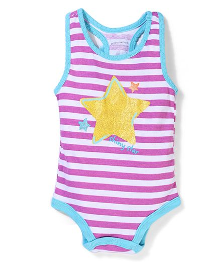 Baby Starters Stripped Onesies - Purple & Blue