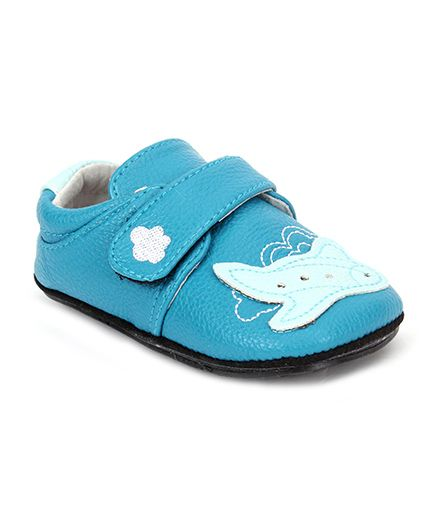 Jack & Lily Baby Shoes Airplane Motif - Blue