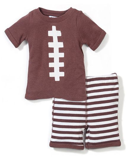 Mud Pie T-Shirt & Pant Set - Brown