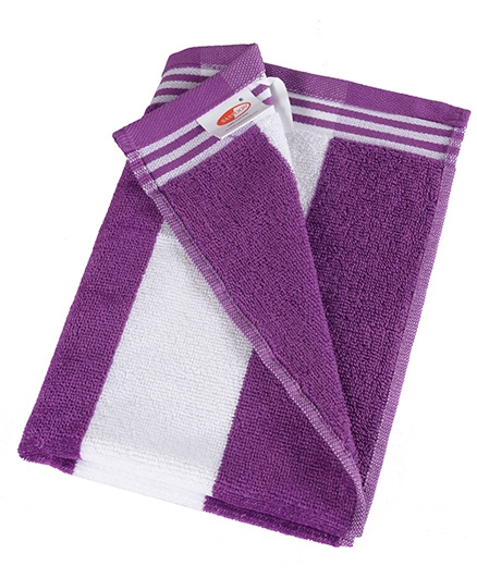 Sassoon Cotton Terry Cabana Hand Towels Purple - Set of 2