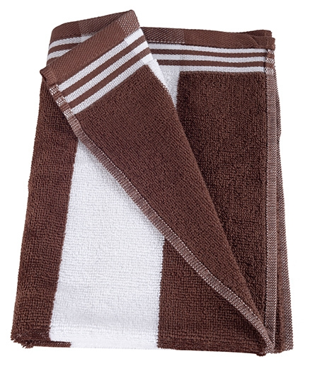 Sassoon Cotton Terry Cabana Hand Towels Brown - Set of 2