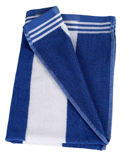 Sassoon Stripe Print Cabana Bath Towel -Royal Blue