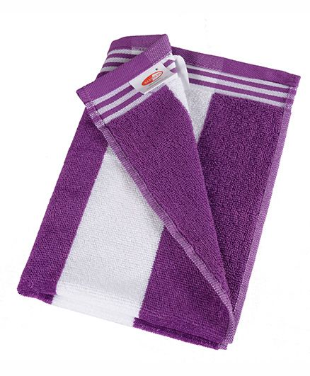 Sassoon Stripe Print Cabana Bath Towel - Purple