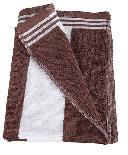 Sassoon Cotton Terry Cabana Bath Towel - Brown
