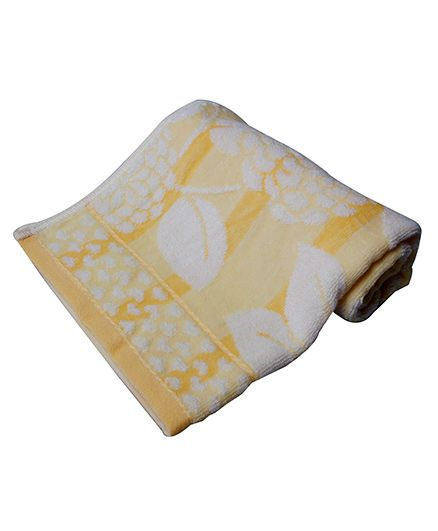 Sassoon Baby Bath Towel Floral Twist - Yellow