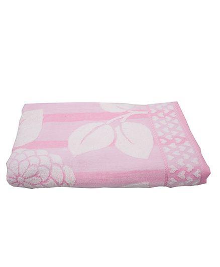 Sassoon Baby Bath Towel Floral Twist - Pink