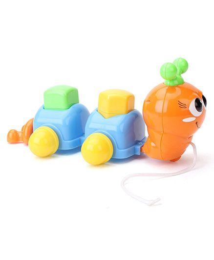 Simba ABC Pull Along Caterpillar - Blue And Orange