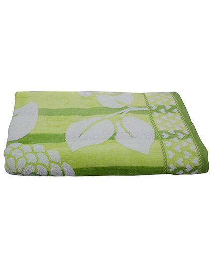 Sassoon Baby Bath Towel Floral Twist - Green