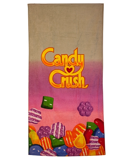 Candy Crush Print Bath Towel - Multicolor