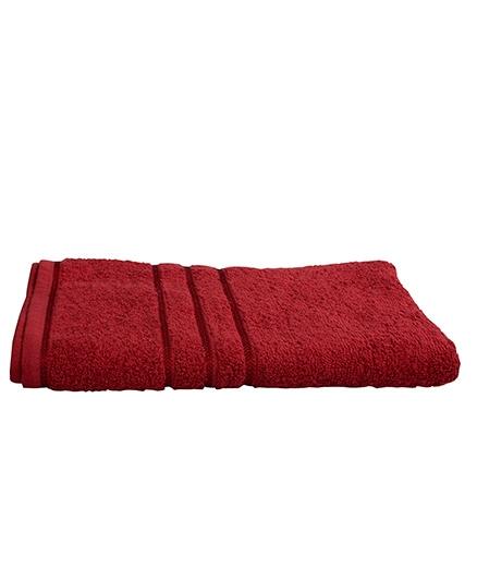Sassoon Sandy Cotton Bath Towel - Burgundy