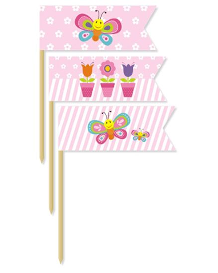 Prettyurparty Butterfly Toothpicks- Pink