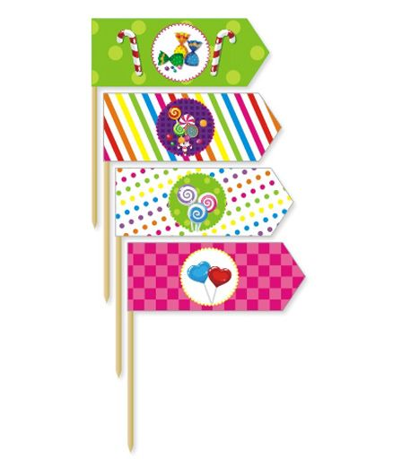 Prettyurparty Candy Shoppe Toothpicks- Multi Color
