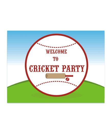 Prettyurparty Cricket Entrance Banner Door Sign - Multicolor