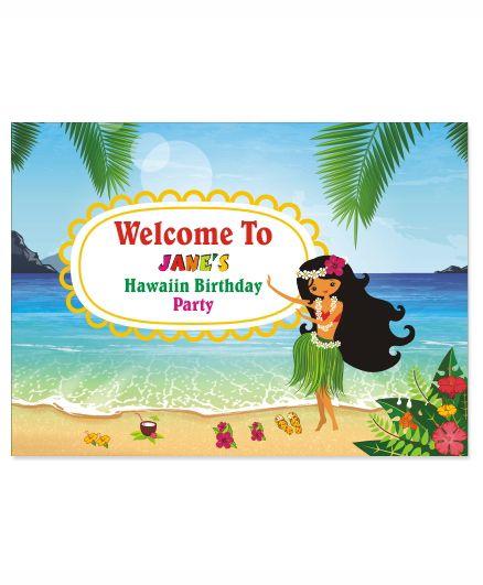 Prettyurparty Hawaiin Entrance Banner / Door Sign- Multi color