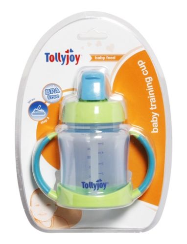 Tollyjoy 2 in 1 Straw Training Cup Blue