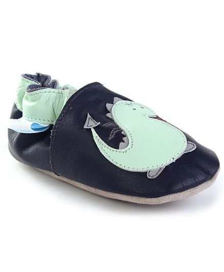 JACK&LILY Baby Shoes - Navy Blue & Green